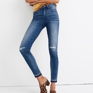 New Madewell Mid-Rise Skinny Jeans in York Wash